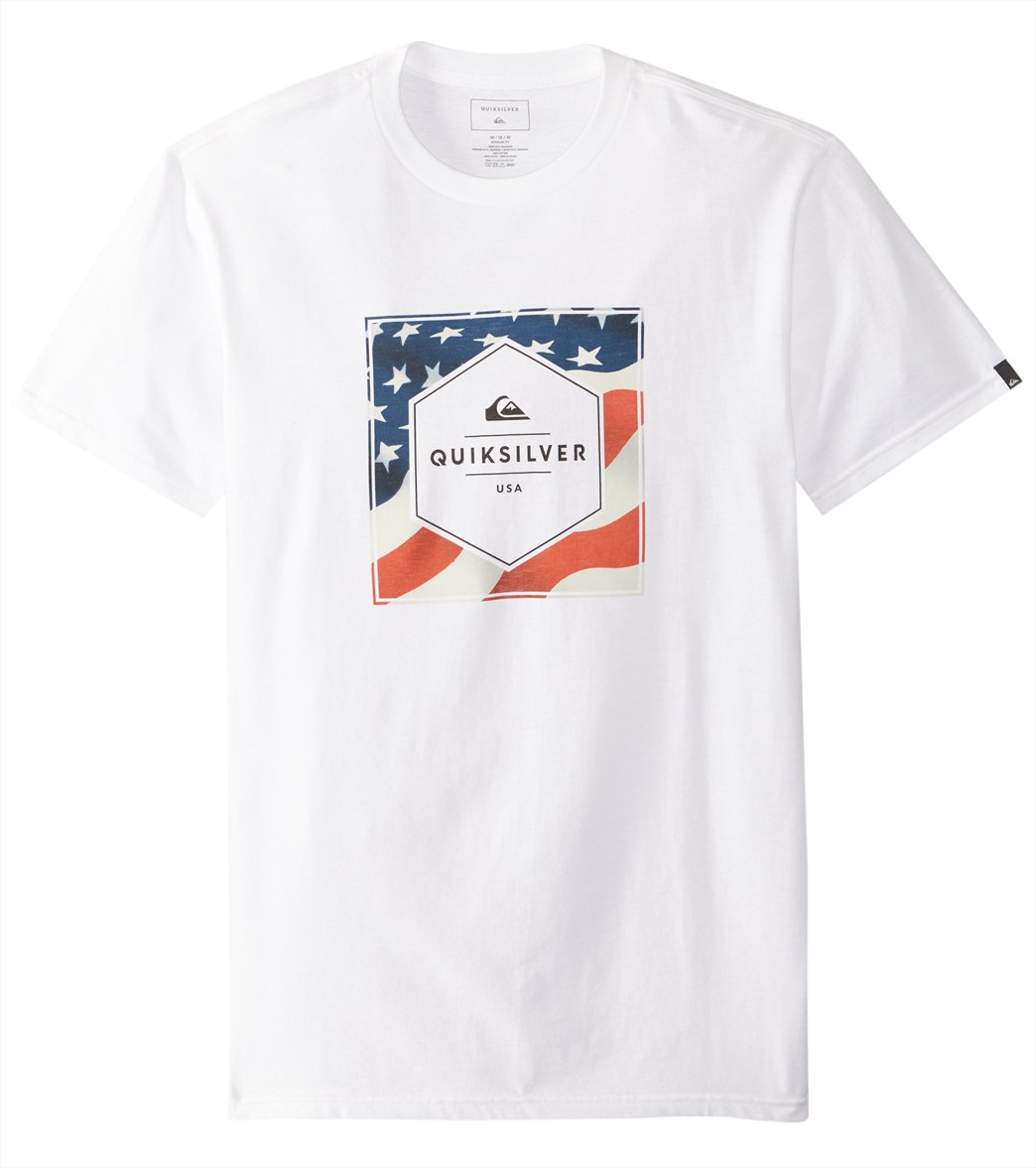 355977edf9 Quiksilver Men's Stars and Stripes Short Sleeve Tee at SwimOutlet.com
