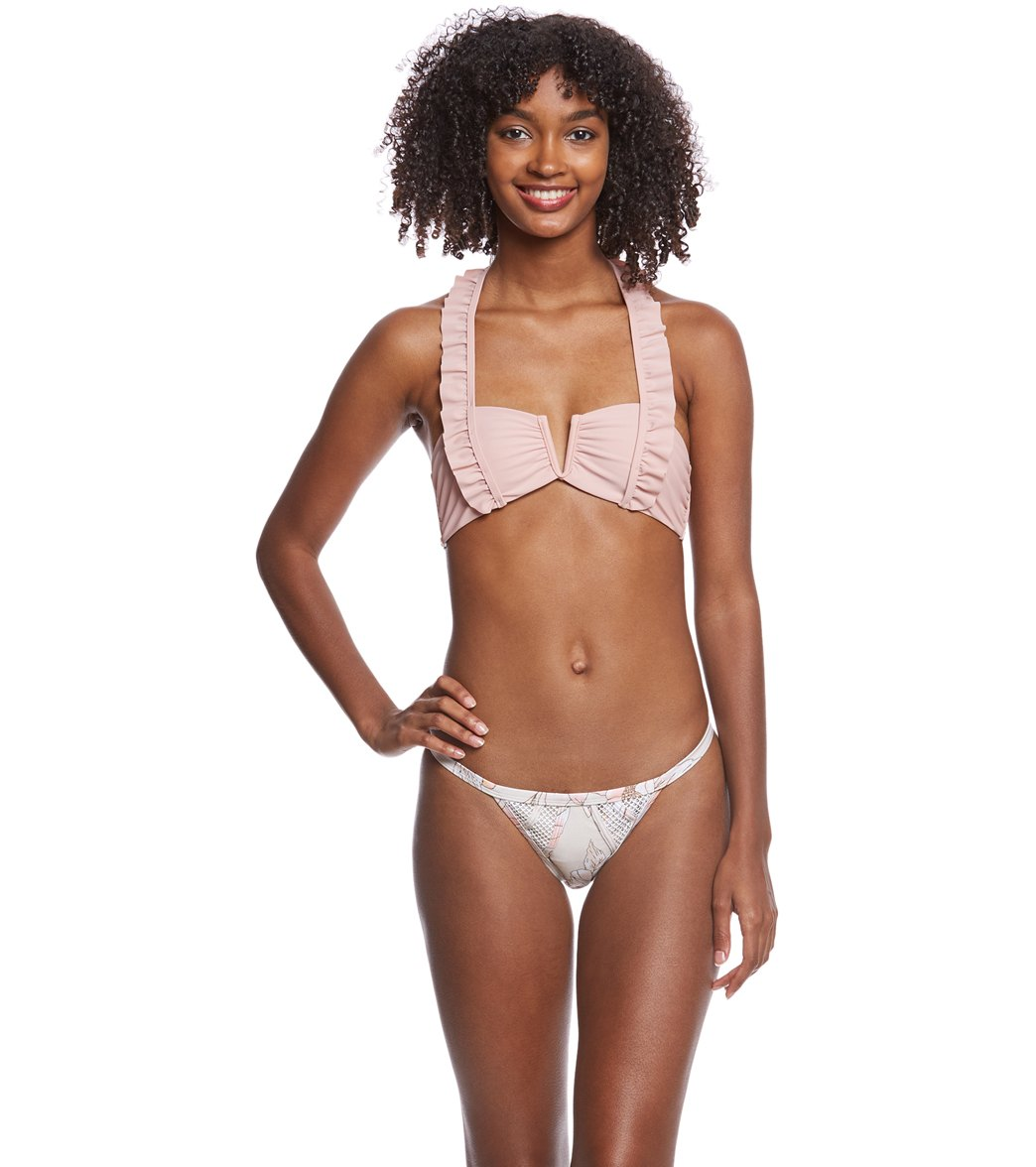 d73b4f0b7ed Somedays Lovin Hibiscus Frill Bikini Top at SwimOutlet.com - Free ...