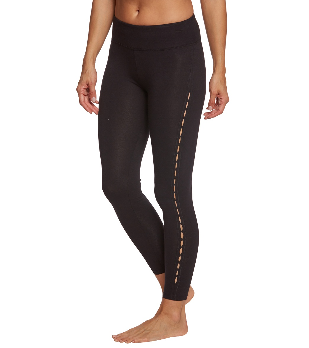 8aa2bfb85927c4 Betsey Johnson Infinity Loop Thigh Cutout Cotton Yoga Leggings at ...