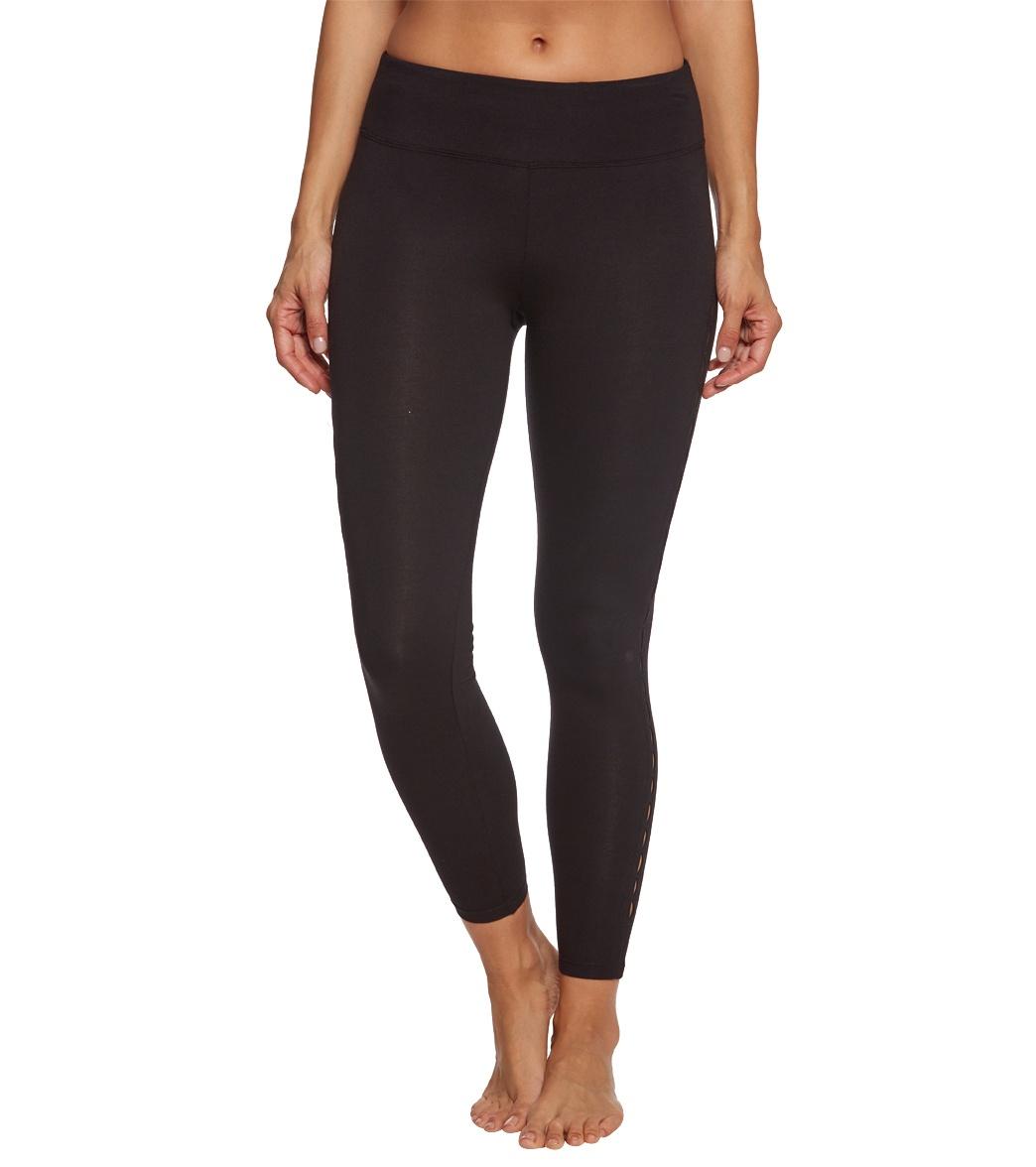 f3773e9de41ce0 Betsey Johnson Infinity Loop Thigh Cutout Cotton Yoga Leggings at ...