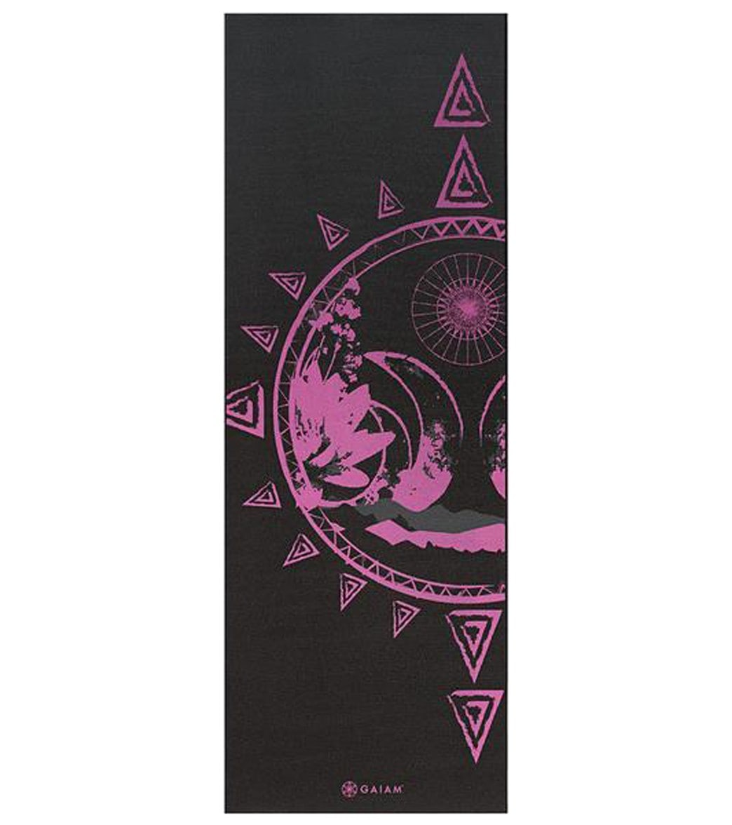 "Gaiam Reversible Be Free Printed Yoga Mat 68"" 6mm Extra"