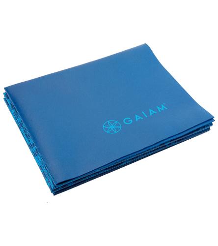 Gaiam Foldable Blue Sundial Printed Yoga Mat 68 Quot 2mm At
