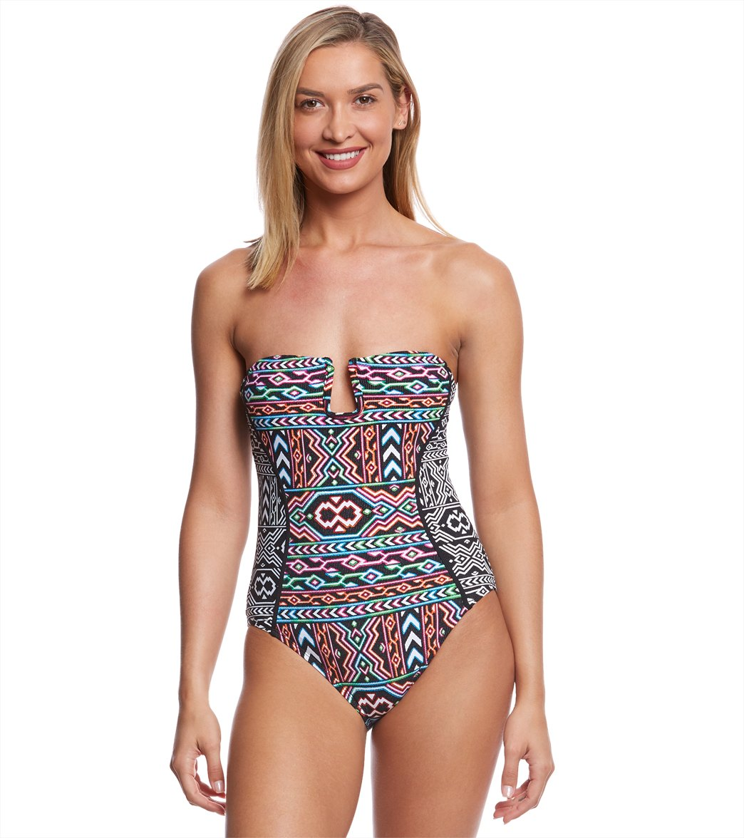 e31bc120866f La Blanca La Azteca Bandeau One Piece Swimsuit at SwimOutlet.com - Free  Shipping