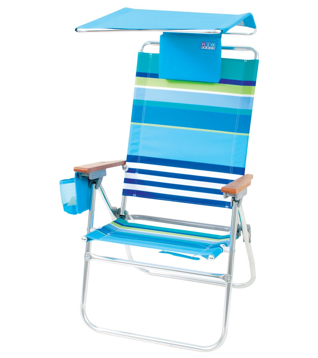 Rio Brands More Than A Stripe The Ultra Hi Boy Chair w Canopy at SwimOutlet Free Shipping