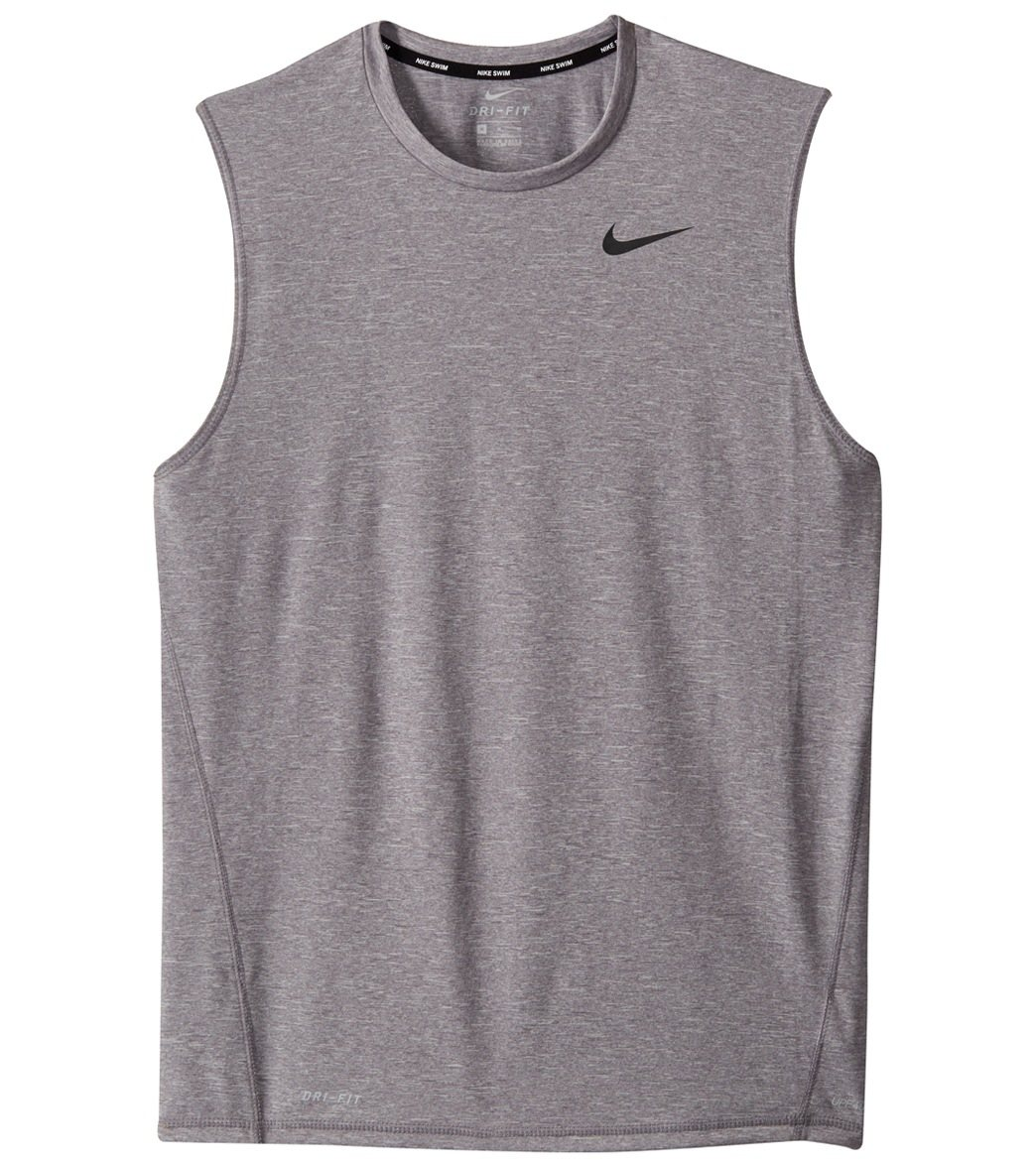 Nike Mens Dri Fit Heather Sleeveless Hydroguard At Swimoutlet