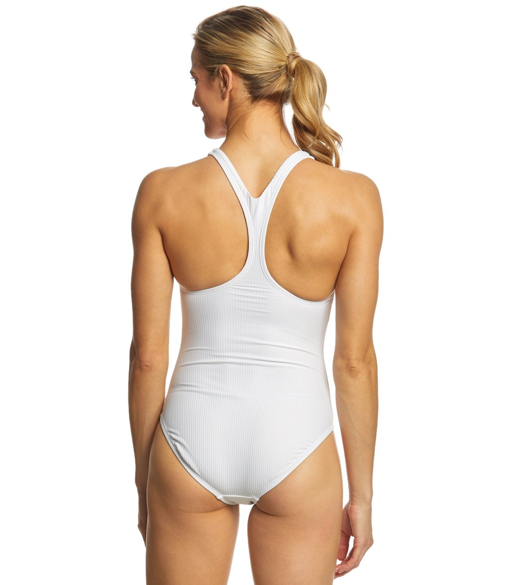 2cd4b74c462d9 Nike Women's Ribbed Racerback One Piece Swimsuit at SwimOutlet.com ...