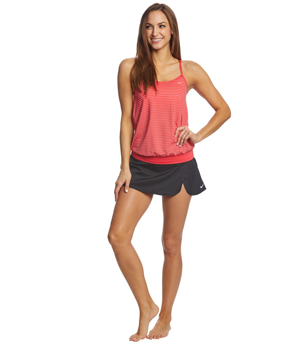 5eaa00d6f7620 Nike Women's Stripe Layered Tankini Top at SwimOutlet.com - Free ...