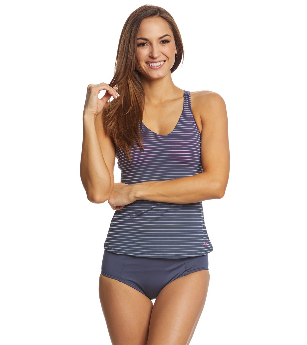 4b584d8e84f Nike Women's Stripe Racerback Tankini Top at SwimOutlet.com - Free Shipping