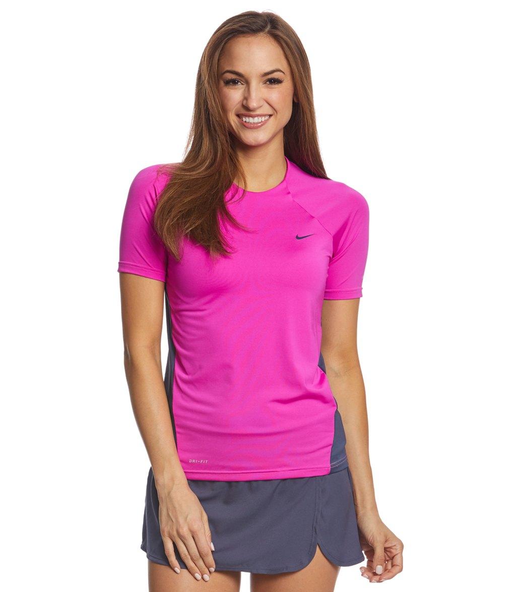 617859c6d Nike Women's Dri-FIT S/S Hydroguard at SwimOutlet.com
