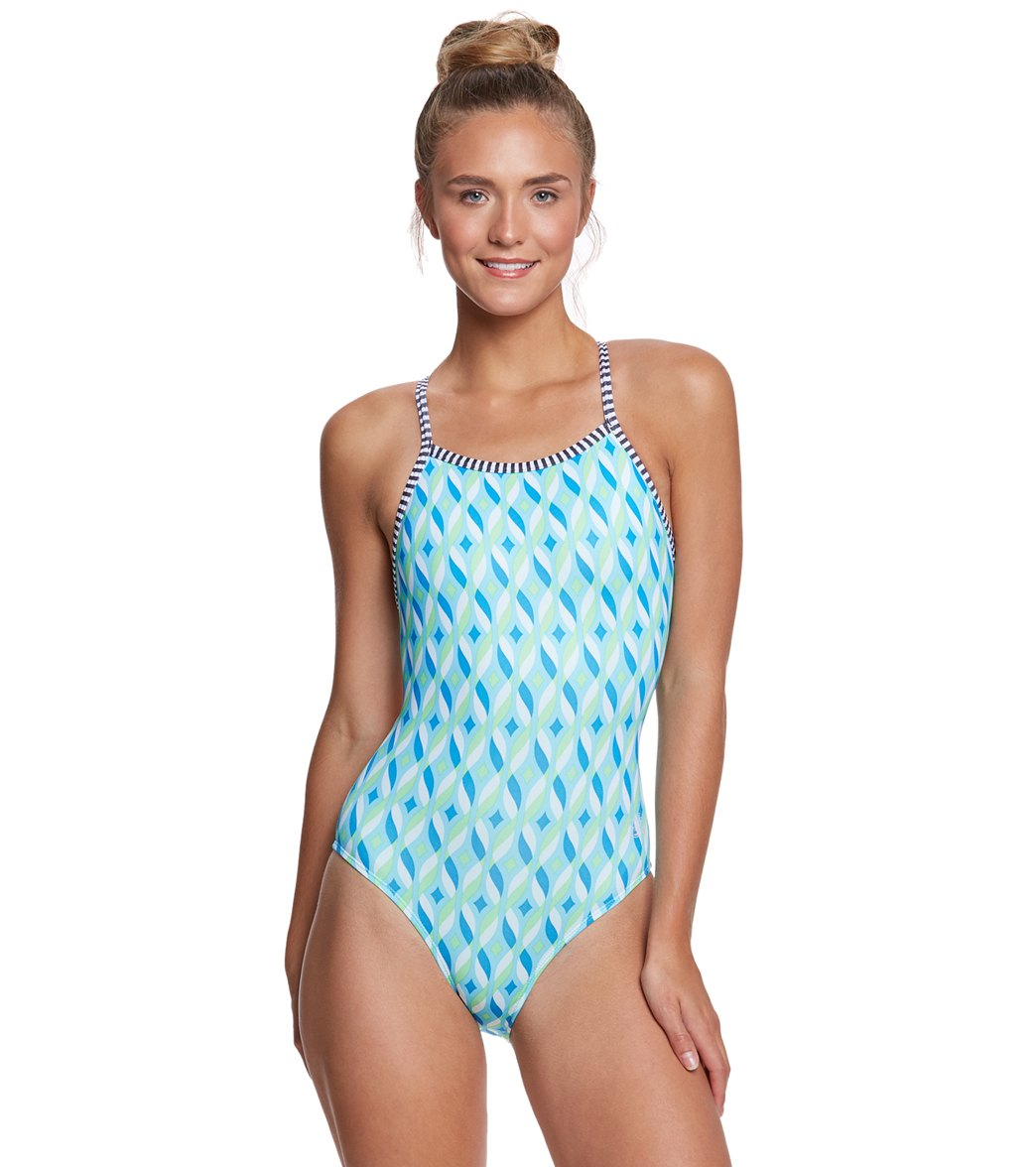 8ba18edfc506c ... Dolfin Uglies Women's Tinsel V-2 Back One Piece Swimsuit. Play Video.  MODEL MEASUREMENTS