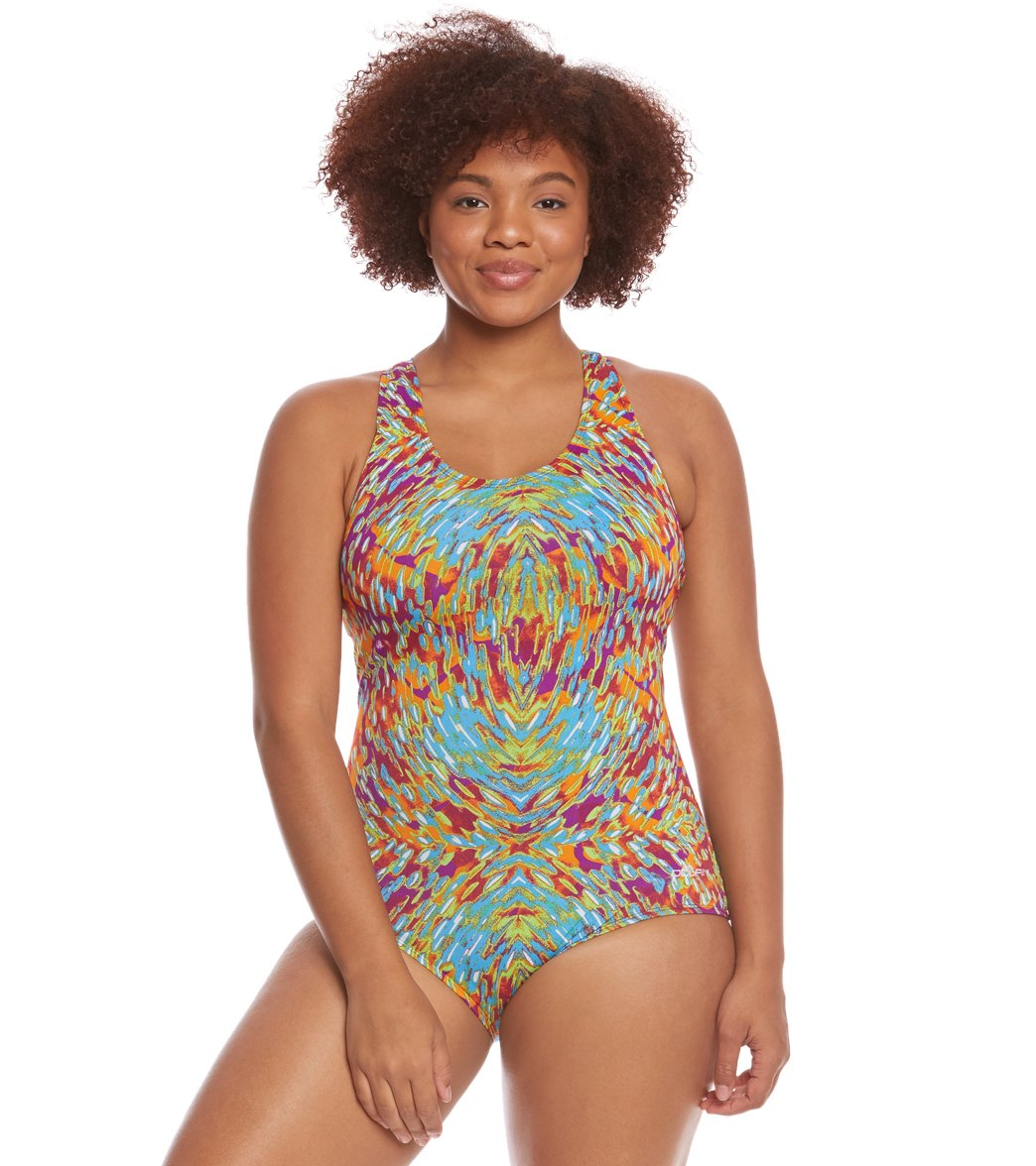 79558c72db ... Dolfin Aquashape Women s Plus Size Evora Conservative One Piece Swimsuit  Play Video. Play Video