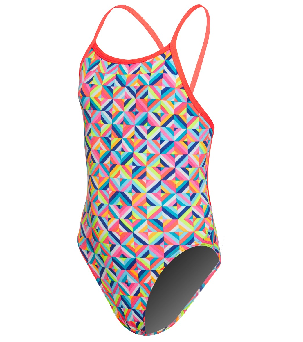 5006e2a9f1 Funkita Girls  Flash Bomb Single Strap One Piece Swimsuit at SwimOutlet.com  - Free Shipping