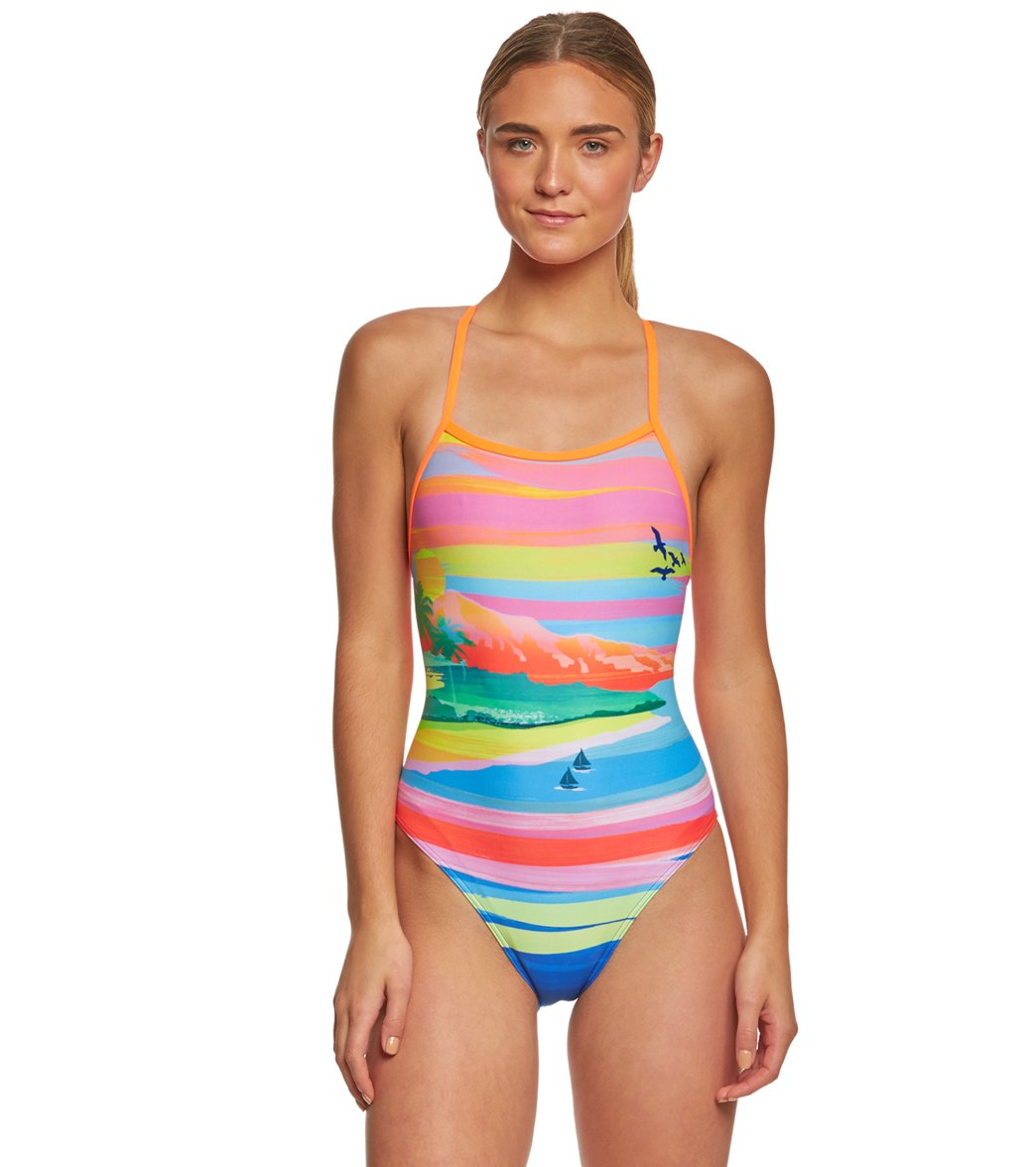 0ea7c190151 Funkita Women's Pina Colada Tie Me Tight One Piece Swimsuit at  SwimOutlet.com - Free Shipping