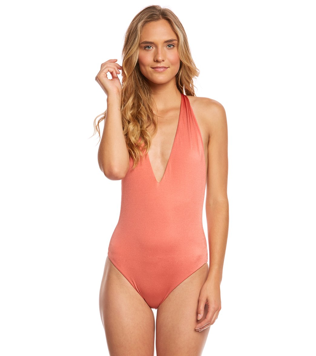 498ba92b2188c Billabong Sol Searcher Deep V One Piece Swimsuit at SwimOutlet.com - Free  Shipping