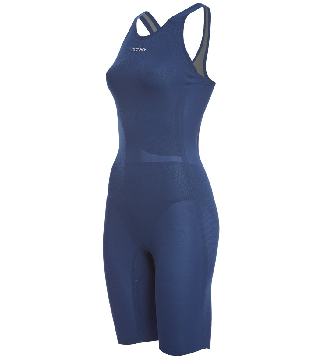 Dolfin Women's Titanium Kneeskin Tech Suit Swimsuit