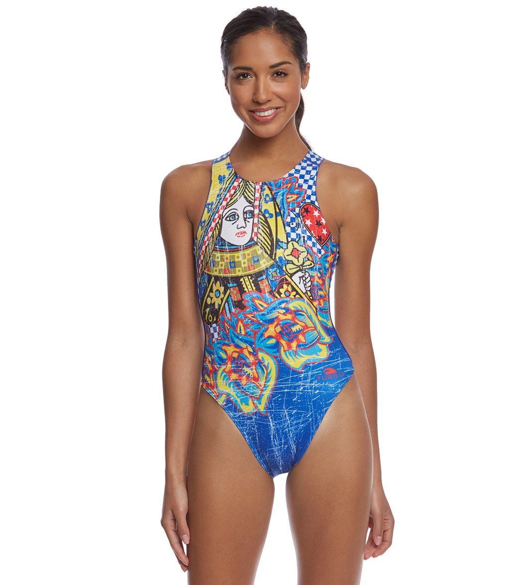 641d5fdfabe Turbo Queen Heart Vintage Water Polo Suit