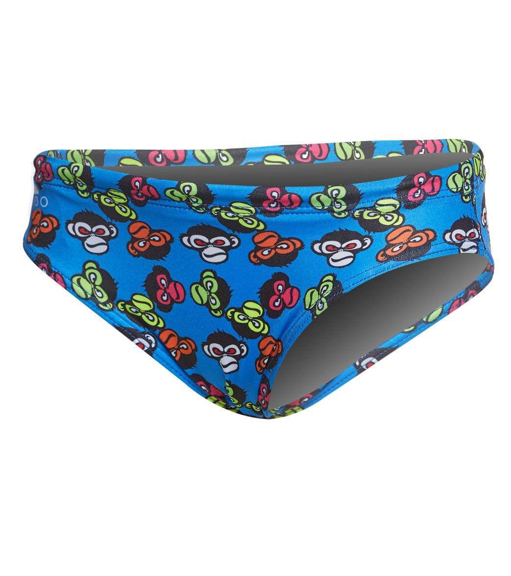078d20cacd195 Turbo Boys' Monkey Swim Brief at SwimOutlet.com - Free Shipping