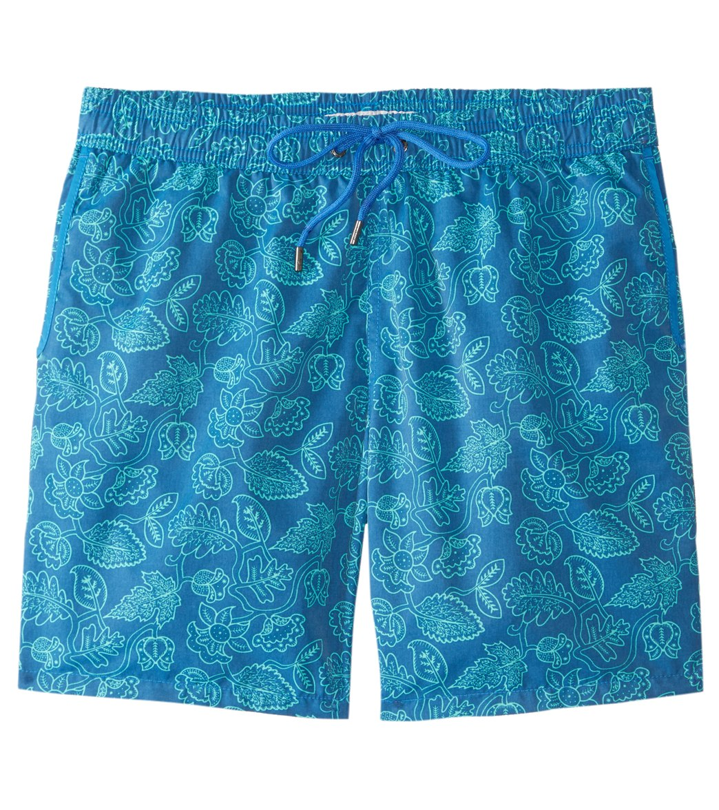 b21ea0d667 Mr.Swim Dale Leafy Floral Swim Trunk at SwimOutlet.com - Free Shipping