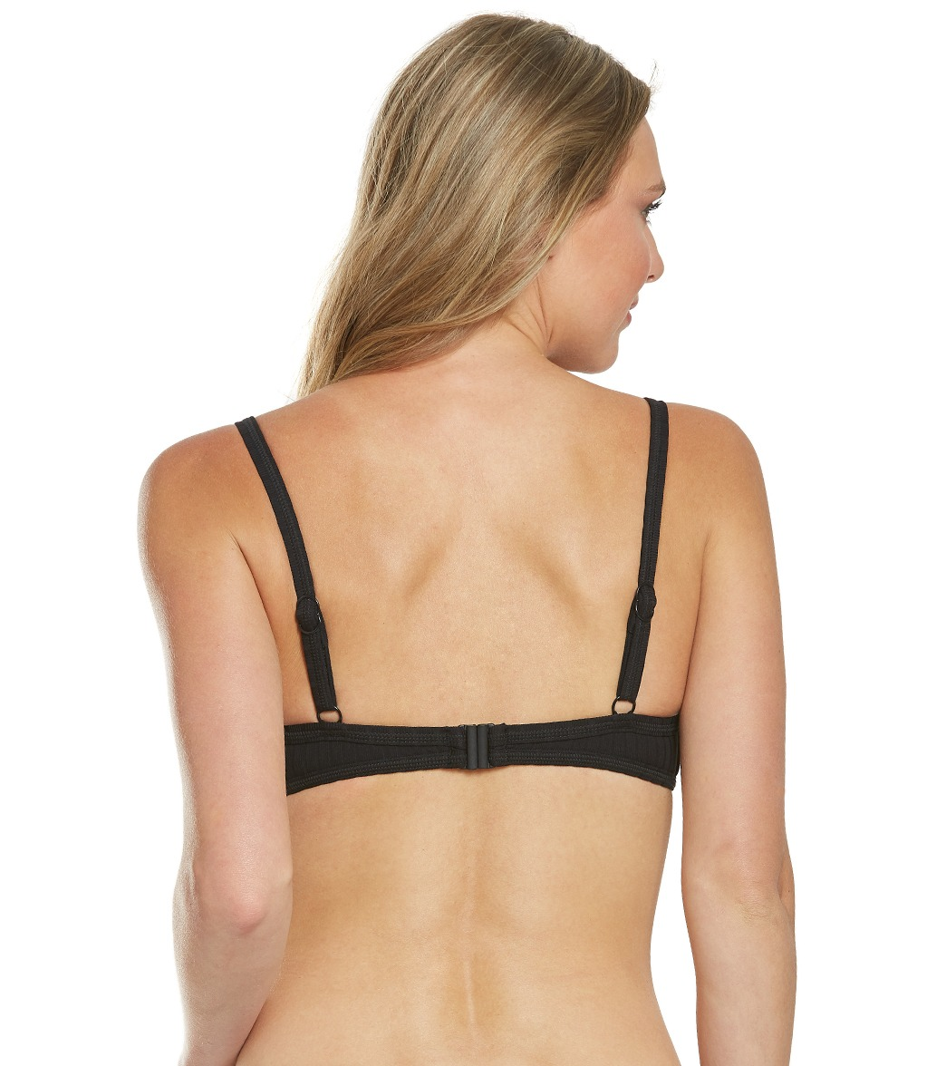 807315cb69 Seafolly Inka Rib Lace Up Bralette Bikini Top at SwimOutlet.com ...