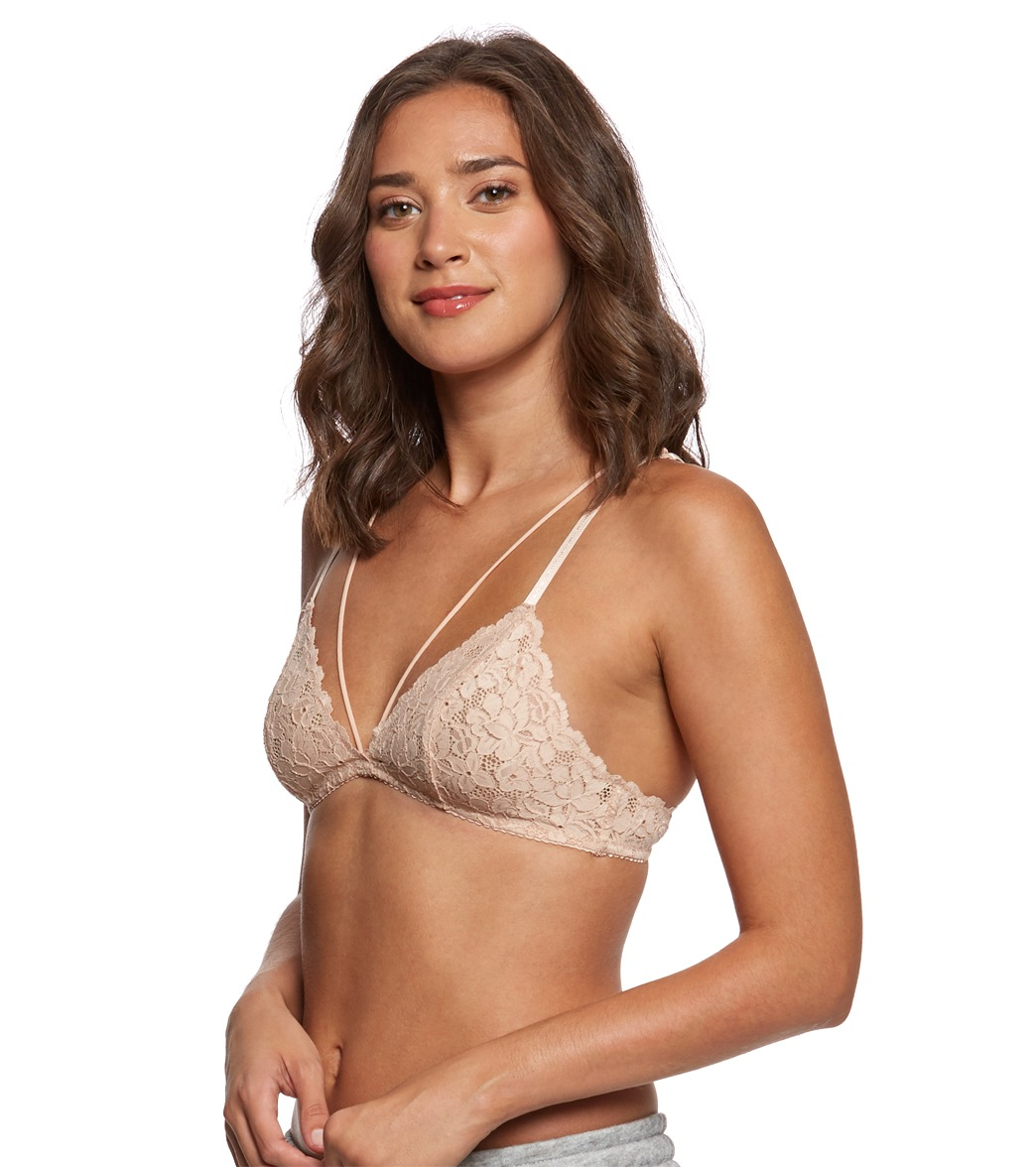 fbe269de6c7 Free People Front Strap Triangle Bra at YogaOutlet.com