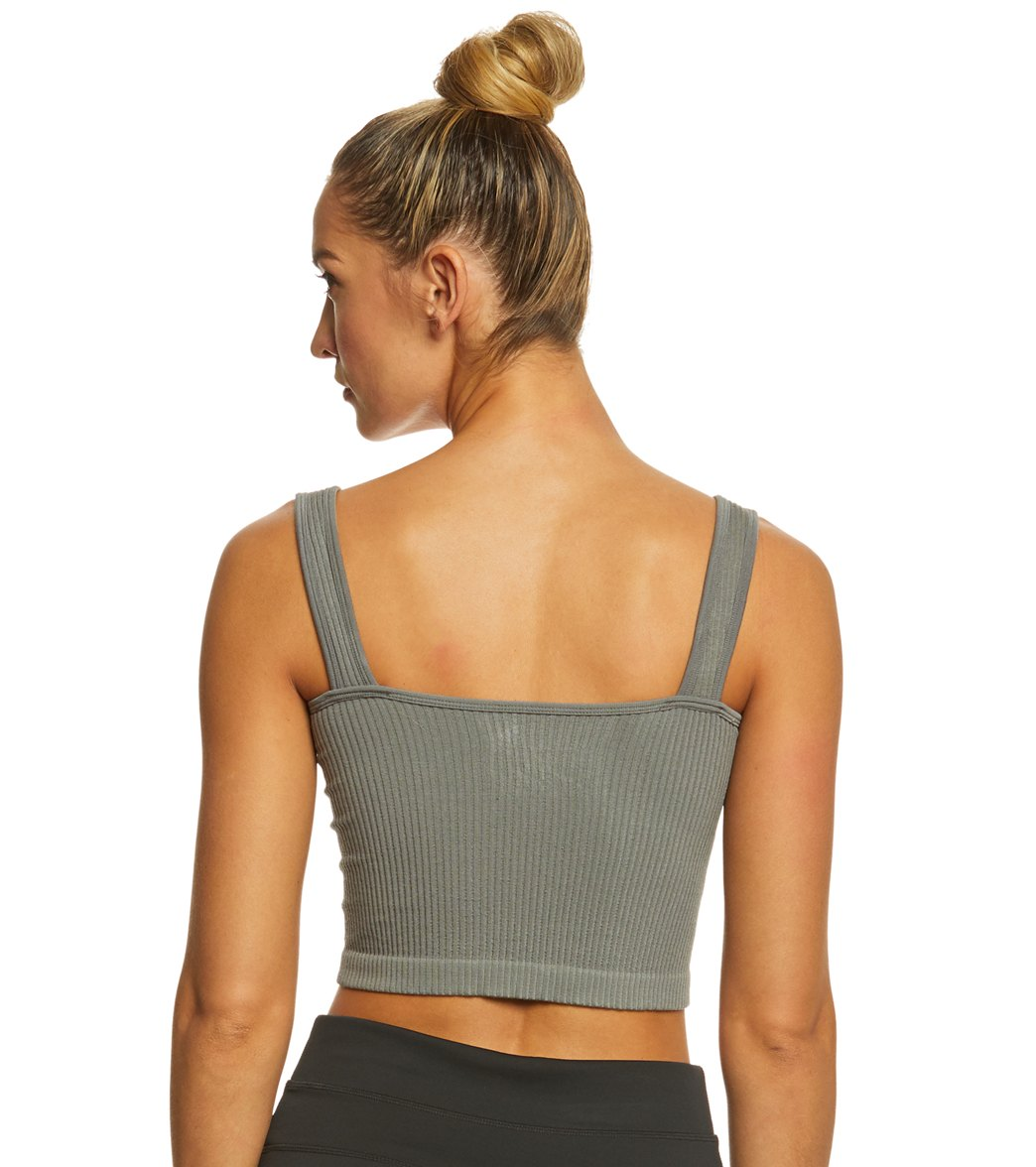60434903e6064 Free People Solid Rib Brami Yoga Crop Top at YogaOutlet.com