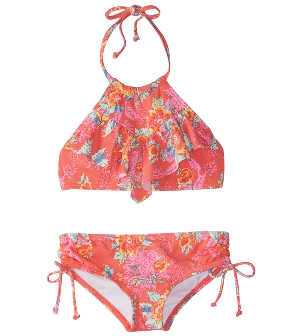0b9cac95b38c9 Billabong Girls  Rosie Daze High Neck Bikini Set (4-14) at SwimOutlet.com -  Free Shipping