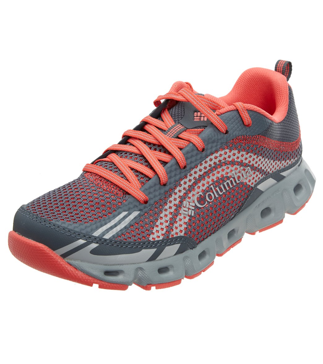 Columbia Women's Drainmaker Iv Hybrid Shoe - Graphite Red Coral 7.5 Graphite - Swimoutlet.com
