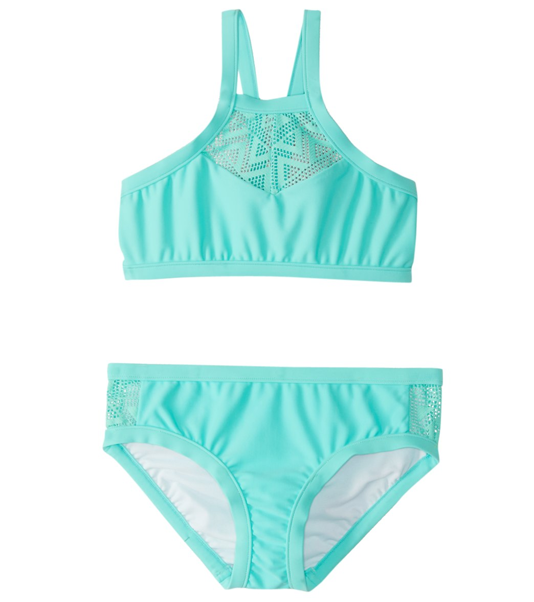 2460dd11c3add Seafolly Girls' Summer Essentials Tankini Set (6-16) at SwimOutlet.com -  Free Shipping