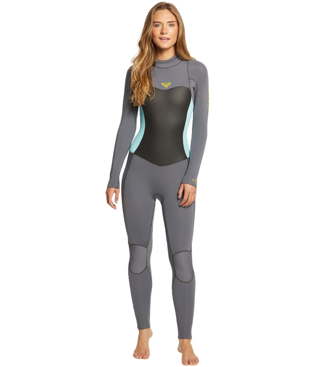 Roxy Women s 4 3MM Syncro Series Back Zip Fullsuit at SwimOutlet.com ... dc80cfa9e