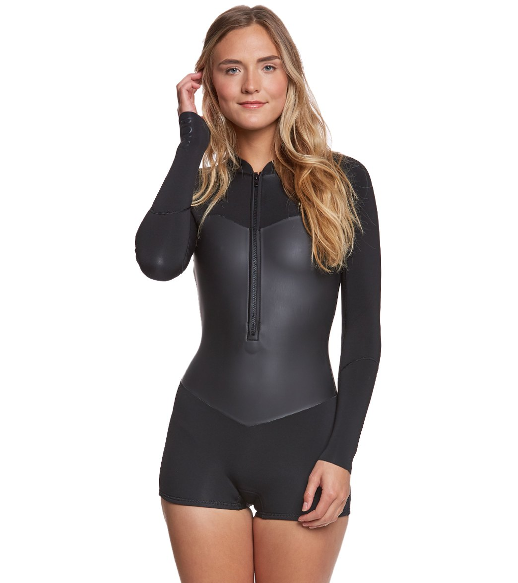 0a7fc6c81a Roxy Women s 2.0 Satin Front Zip Long Sleeve Springsuit at SwimOutlet.com -  Free Shipping