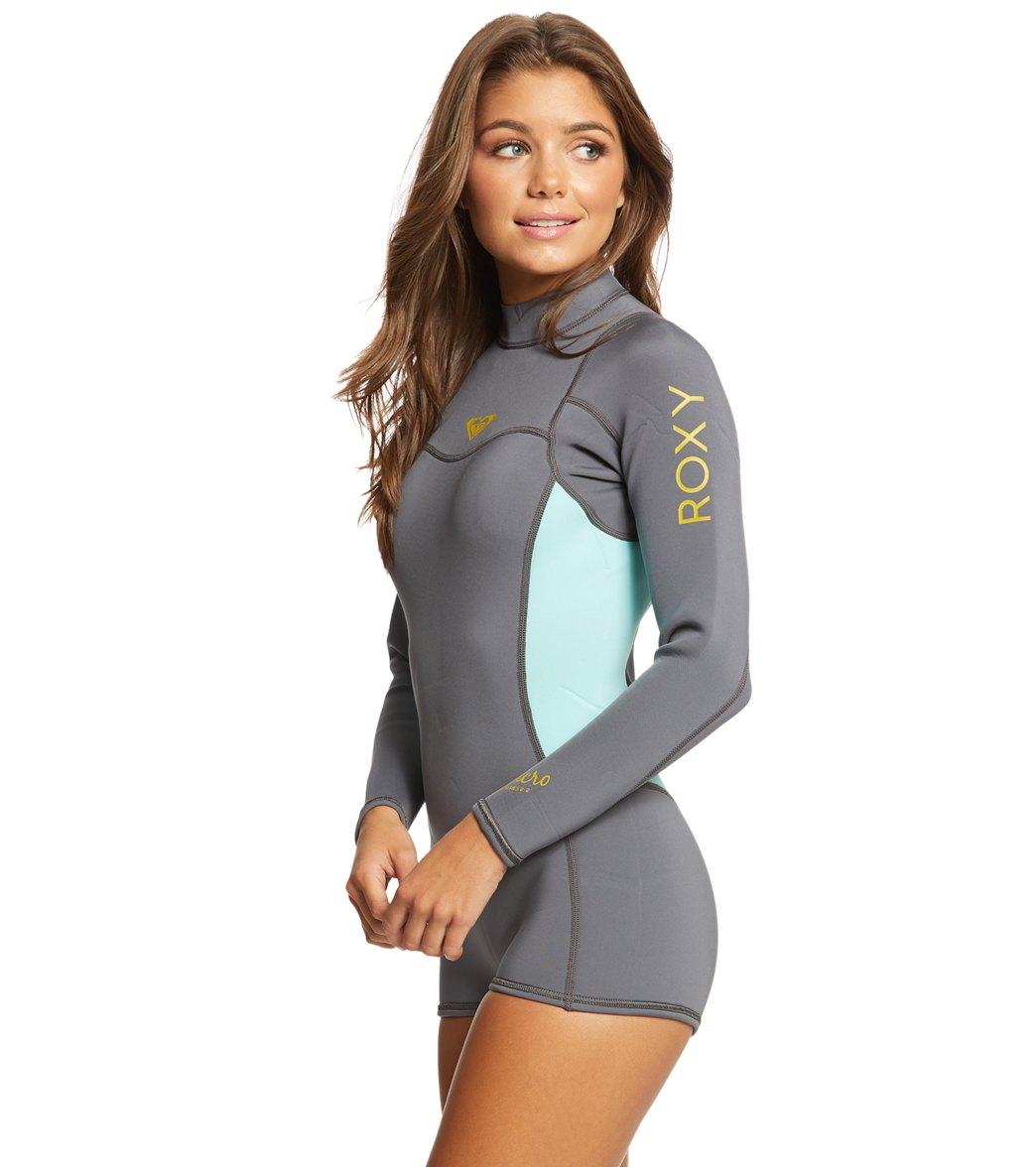 06226a71f9 Roxy Women's 2u002F2MM Syncro Back Zip Long Sleeve Spring Suit