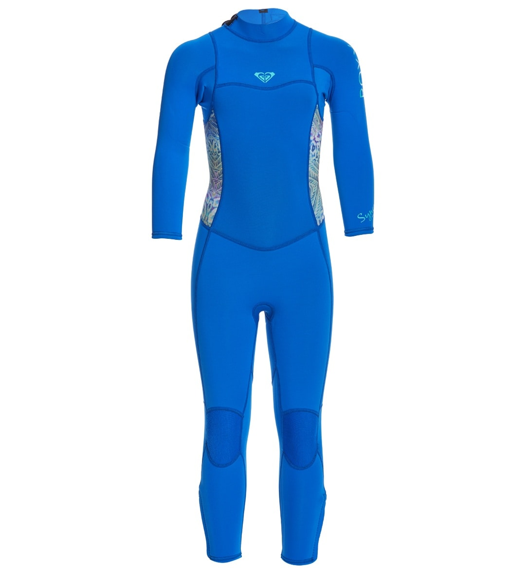 798bb4ad1b Roxy Girls  3 2mm Syncro Back Zip Fullsuit Wetsuit at SwimOutlet.com ...