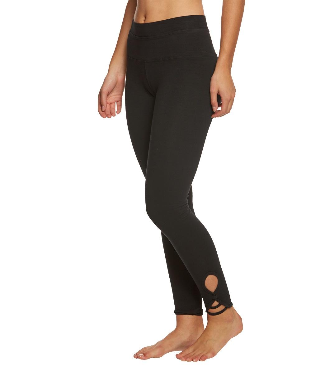 4bc7d436d Hard Tail High Rise Fleur-De-Lis Cotton Yoga Leggings at YogaOutlet ...