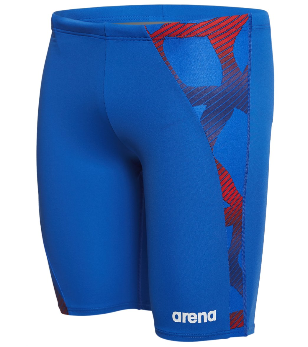 2e7d8b1d2a Arena Men's Spider Panel Jammer Swimsuit at SwimOutlet.com - Free Shipping