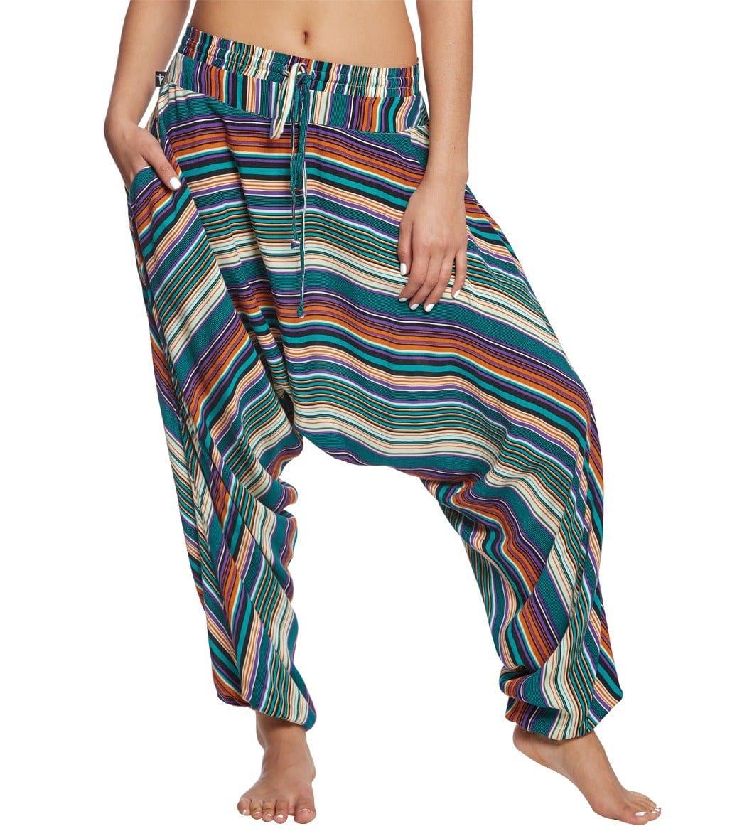 f5e13022bb74 Buddha Pants Stripes Harem Pants at YogaOutlet.com - Free Shipping