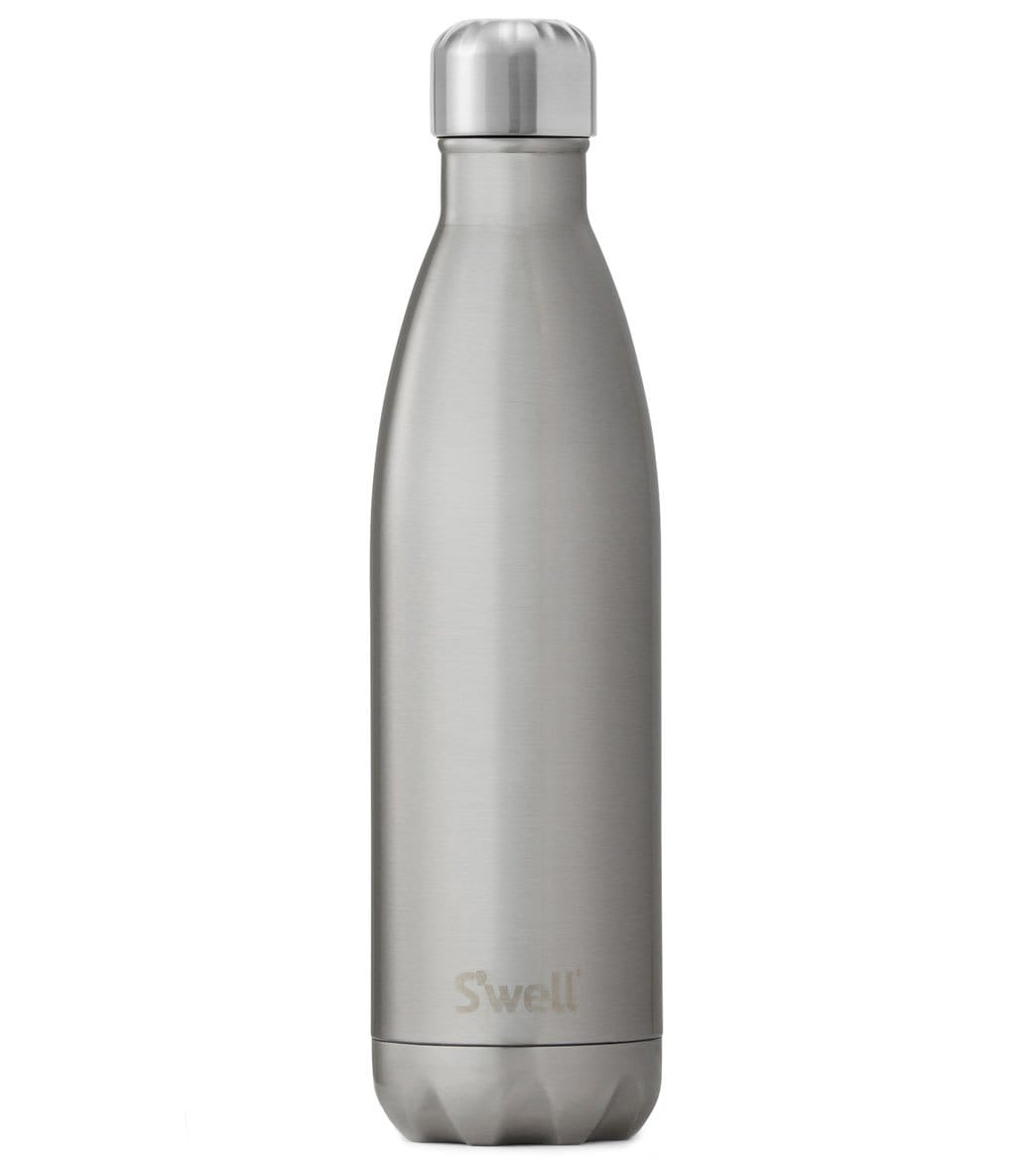 bca57826e8a S well Silver Lining 25oz Stainless Steel Water Bottle at YogaOutlet.com