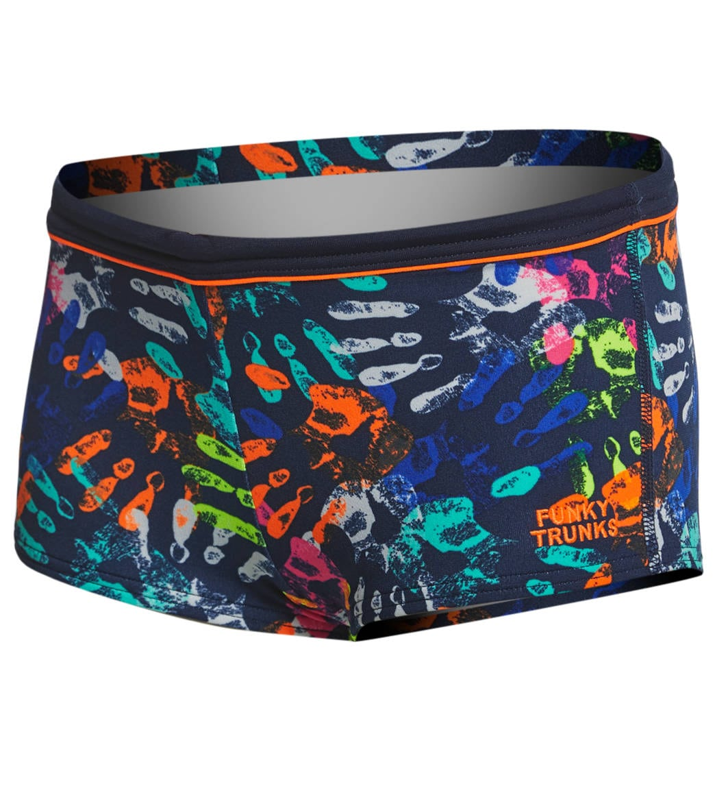 316ac88d12 Funky Trunks Toddler Boys' Hands Off Square Leg Swimsuit at SwimOutlet.com