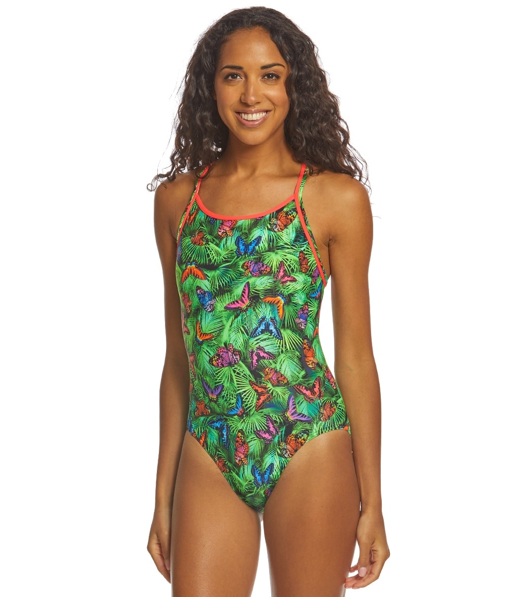 e78ce9f396 Funkita Women's Pretty Fly Diamond Back One Piece Swimsuit at  SwimOutlet.com - Free Shipping