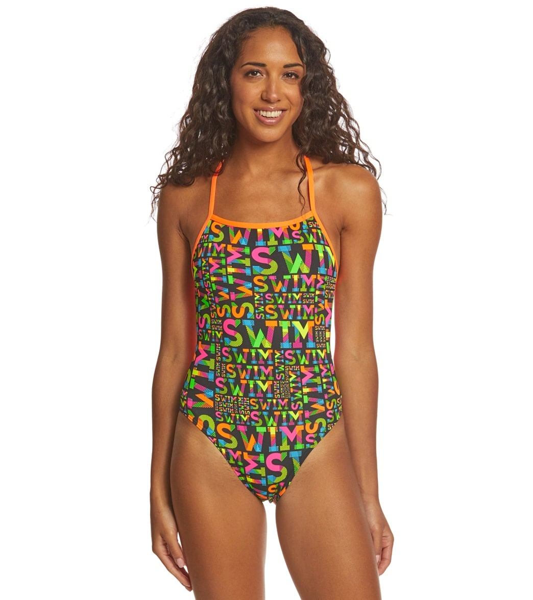 13dc8619e18 Funkita Women's Night Swim Strapped In One Piece Swimsuit at SwimOutlet.com  - Free Shipping
