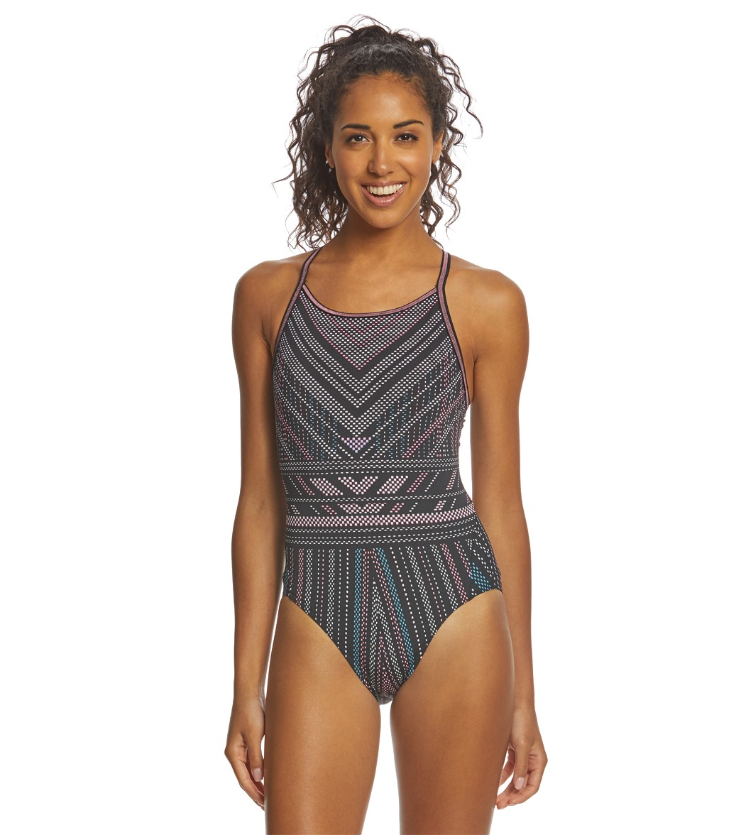 50dad23392917 Funkita Women's Stitched Up Diamond Back One Piece Swimsuit at  SwimOutlet.com - Free Shipping