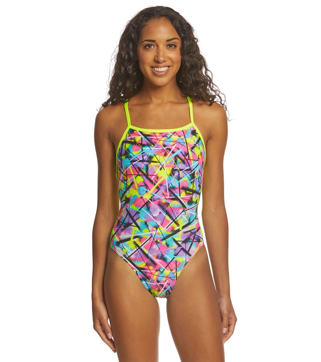45dbaafc05 Funkita Women's Spray On Strapped In One Piece Swimsuit at SwimOutlet.com - Free  Shipping