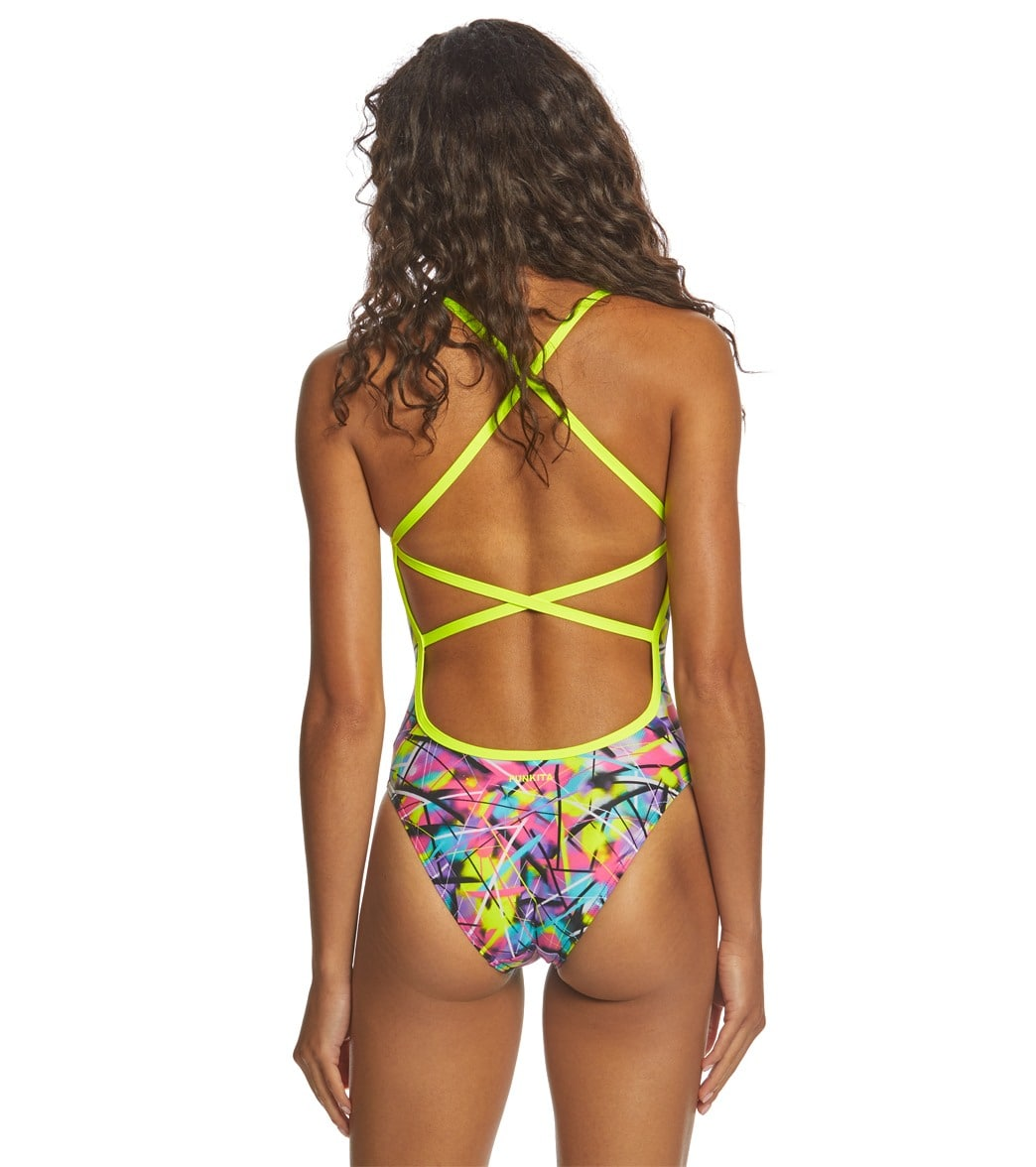 3561e4be8d Funkita Women's Spray On Strapped In One Piece Swimsuit at ...