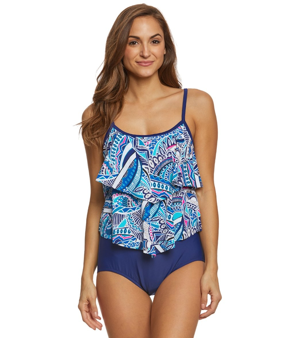 67d9cdeff6 Maxine Island Days Double Tier One Piece Swimsuit at SwimOutlet.com - Free  Shipping