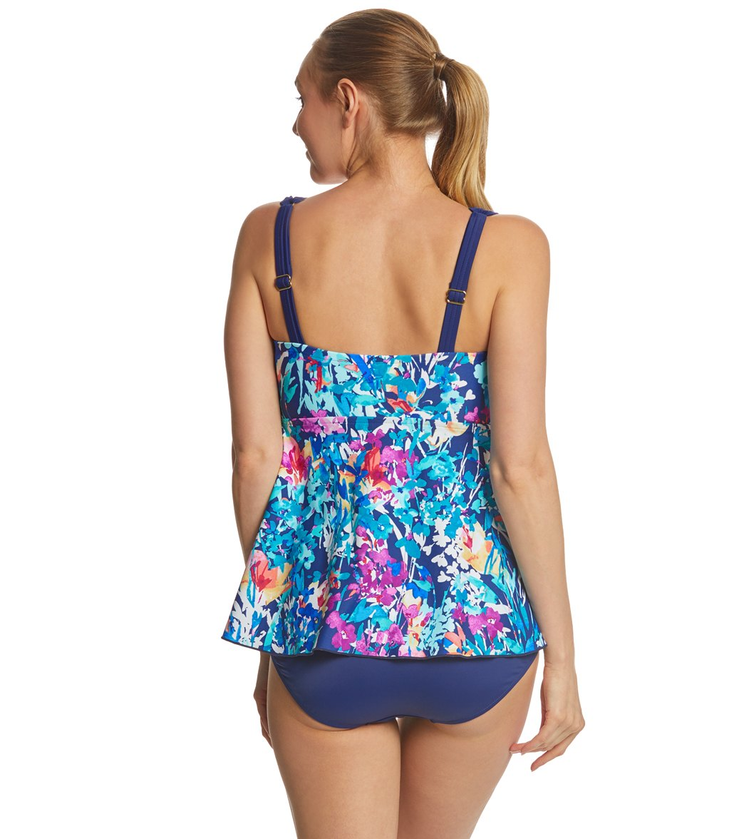 d8714dd1ea0 Maxine French Bouquet Draped One Piece Swimsuit at SwimOutlet.com ...