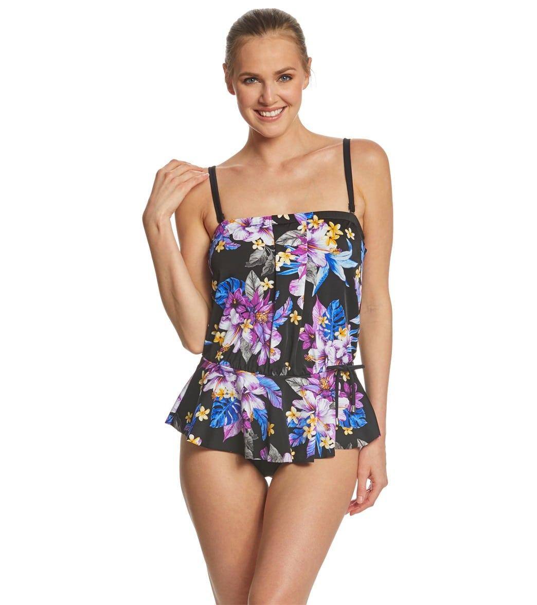 579b7b34e25 Maxine Midnight Garden Peplum One Piece Swimsuit at SwimOutlet.com ...