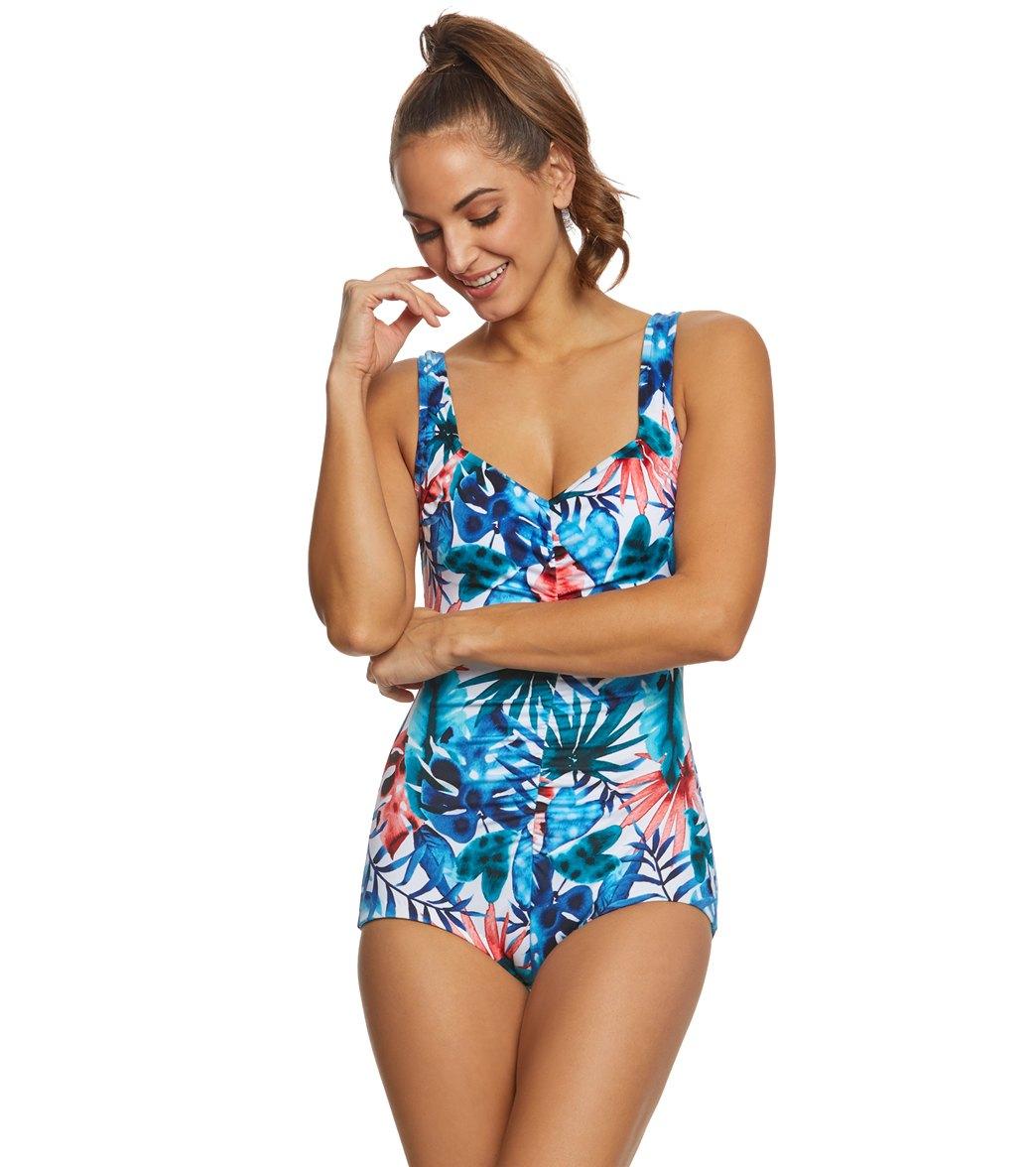 8f0b1f6aa4e ... Maxine Palmetto Spa Chlorine Resistant Girl Leg One Piece Swimsuit Play  Video. MODEL MEASUREMENTS