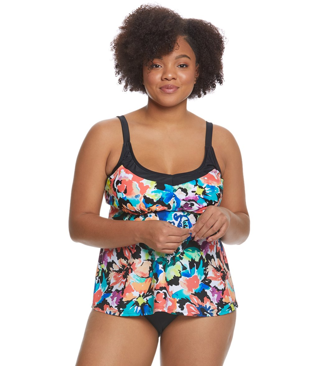 af39c64d123 ... Maxine Plus Size Blossom Underwire Tankini Top. Play Video. Play Video
