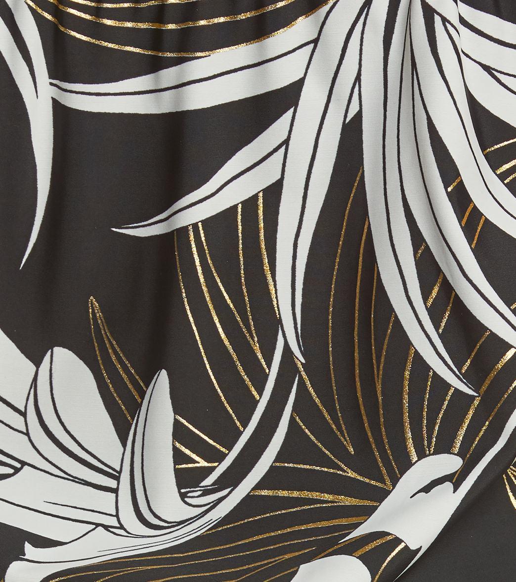 0a9757d88f6 Maxine Plus Size Palm Noveau Blouson Tankini Top at SwimOutlet.com ...