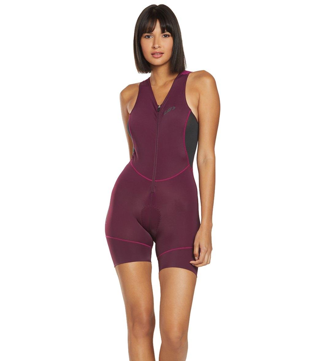 Louis Garneau Women/'s Tri Comp Triathlon Suit Medium Black//Pink//Green $115