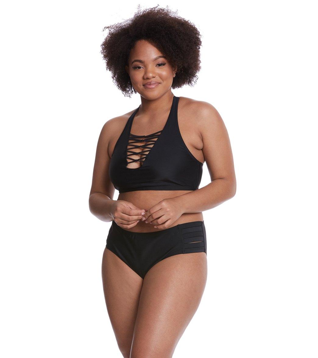 51ef0b73b2 Skye Plus Size Solid Kira Bikini Bottom at SwimOutlet.com - Free ...